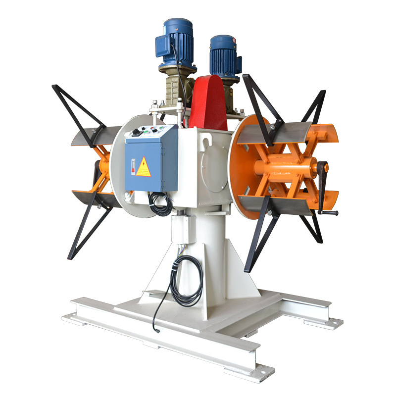 Double heads uncoiler machine metal sheet decoiler electrical machinery with motor power and speed control box