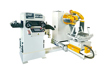 What equipment can be used with the three-in-one servo feeder.